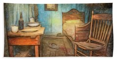 Homage To Van Gogh's Room Bath Towel by Craig J Satterlee