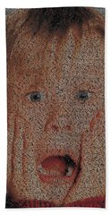 Home Alone Script Mosaic Bath Towel