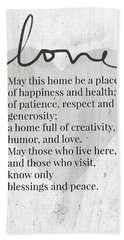 Home Blessing Rustic- Art By Linda Woods Hand Towel
