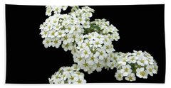 Home Grown White Flowers  Bath Towel