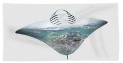 Home IIi - Manta Ray, Coral Bay Bath Towel