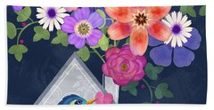 Home Is Where You Bloom Hand Towel