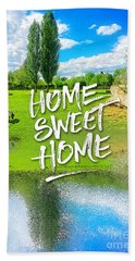 Home Sweet Home Pastoral Versailles Chateau Country Landscape Bath Towel