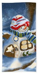 Hand Towel featuring the painting Home Sweet Home by Veronica Minozzi