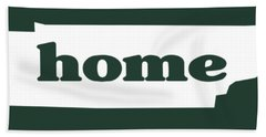 home TN on Green Hand Towel by Heather Applegate