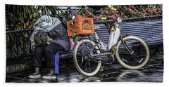 Bath Towel featuring the photograph Homeless In New Orleans, Louisiana by Chris Coffee