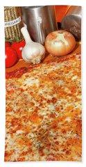Homemade Pizza Bath Towel by KG Thienemann