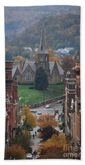 My Hometown Cumberland, Maryland Bath Towel by Eric Liller