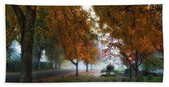 Hometown Fall Morning Bath Towel by Lynn Hopwood