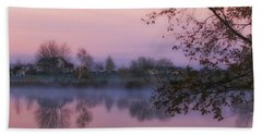 Hand Towel featuring the photograph Hometown Sunrise by Lynn Hopwood