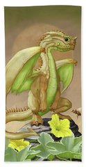 Hand Towel featuring the digital art Honey Dew Dragon by Stanley Morrison