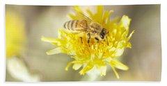 Bath Towel featuring the photograph Honeybee by Nikki McInnes