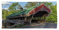 Honeymoon Covered Bridge In Jackson New Hampshire Bath Towel by Brian MacLean