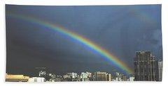 Honolulu Rainbow Bath Towel
