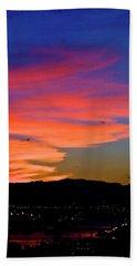 Hand Towel featuring the photograph Honolulu Sunset by Lehua Pekelo-Stearns