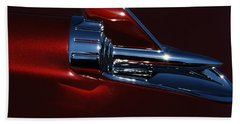 Bath Towel featuring the photograph 1957 Chevy Belair Hood Rocket Abstract by Jani Freimann