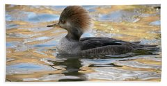 Hooded Merganser Female Hand Towel