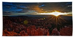 Hoodoos At Sunrise Bryce Canyon National Park Hand Towel