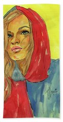 Bath Towel featuring the painting Hoody by P J Lewis