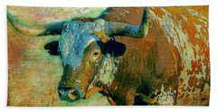 Hook 'em 1 Hand Towel by Colleen Taylor