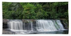 Bath Towel featuring the photograph Hooker Falls by Steven Richardson