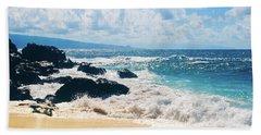 Hookipa Beach Maui Hawaii Bath Towel by Sharon Mau