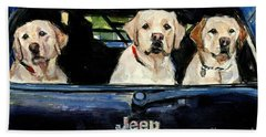 Hand Towel featuring the painting Hooligans by Molly Poole