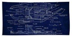 Hoover Dam Blueprint  1935 Hand Towel