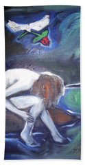Bath Towel featuring the painting Hope  by Winsome Gunning