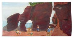 Hopewell Rocks2 Bath Towel