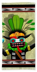 Bath Towel featuring the digital art Hopi Harvest Kachina by John Wills
