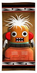 Bath Towel featuring the digital art Hopi Indian Kachina by John Wills