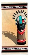 Hopi Sun Face Kachina Hand Towel