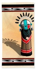 Hopi Sun Face Kachina Bath Towel