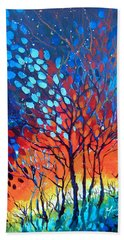 Hand Towel featuring the painting Horizons by Linda Shackelford