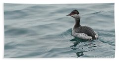 Horned Grebe Bath Towel