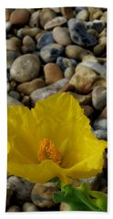 Horned Poppy And Pebbles Hand Towel