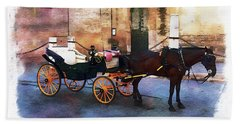 Horse And Carriage Hand Towel
