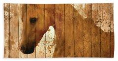 Horse Barn Door Rustic Bath Towel