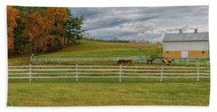 Horse Barn In Ohio  Bath Towel