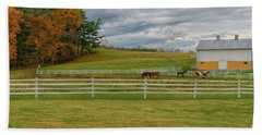 Horse Barn In Ohio  Bath Towel
