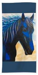 Horse Blue Boy Hand Towel