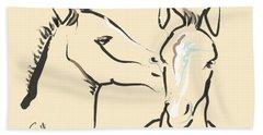 Horse-foals-together 6 Hand Towel