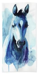 Horse In Blue Bath Towel