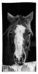 Horse Looking Through Stall Hand Towel