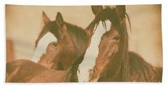 Bath Towel featuring the photograph Horse Portrait by Ana V Ramirez