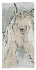 Horse Portrait-farm Animals Bath Towel