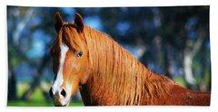 Horse Portrait  Bath Towel