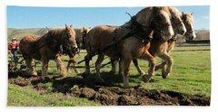 Hand Towel featuring the photograph Horse Power by Jeff Swan