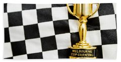 Horse Races Trophy. Melbourne Cup Win Bath Towel